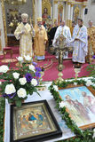 Visite au _23 de Sviatoslav Shevchuk d'église de chapitre de Chortkiv Photo libre de droits