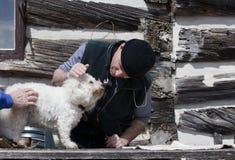 Visite avec le vétérinaire Photographie stock