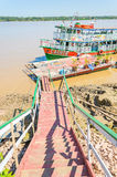 Visite barcos nos bancos do Rio Madeira Fotografia de Stock