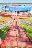 Visite barcos nos bancos do Rio Madeira Fotos de Stock Royalty Free