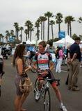 Visite d'Andy Schleck 2013 de la Californie Images libres de droits