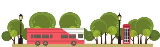 Visite d'autobus illustration de vecteur