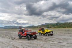 Visite d'entraînement à quatre roues à la montagne Pinatubo Images libres de droits