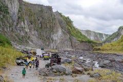 Visite d'entraînement à quatre roues à la montagne Pinatubo Images stock