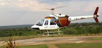 Visite d'hélicoptère Photos stock