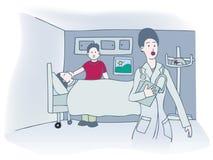 Visite d'hôpital illustration stock