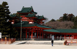 Visite d'un temple Photographie stock