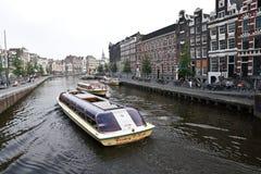 Visite de bateau à Amsterdam Photo libre de droits