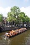 Visite de bateau à Amsterdam Image stock