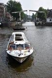 Visite de bateau à Amsterdam Photos libres de droits