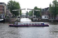 Visite de bateau à Amsterdam Image libre de droits