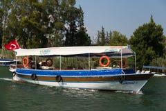 Visite de bateau dans Dalyan Image libre de droits