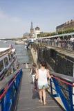 Visite de bateau de Dusseldorf Photo libre de droits