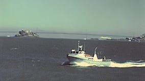 Visite de bateau de San Francisco banque de vidéos