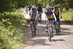 Visite de bicyclette Image libre de droits