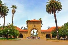 Visite de campus d'université image libre de droits