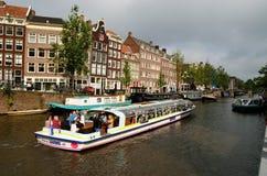 Visite de canal d'Amsterdam Images libres de droits