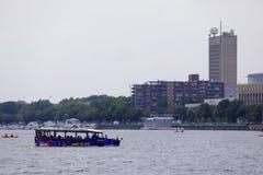 Visite de canard de Boston dans Charles River Image libre de droits