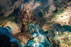 Visite de caverne de Hato en le Curaçao Image libre de droits
