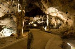 Visite de caverne de Hato en le Curaçao photographie stock