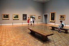 Visite de galerie d'art Photographie stock
