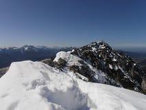 Visite de montagne d'hiver photographie stock libre de droits