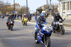 Visite de motos photographie stock libre de droits
