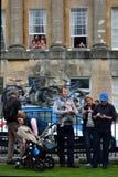 Visite de observation de famille de la Grande-Bretagne Photos libres de droits