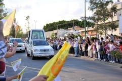 Visite de pape Benedict XVI vers le Mexique Photos stock
