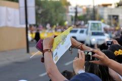 Visite de pape Benedict XVI vers le Mexique photo stock