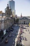 Visite de pape Francis du Chili images libres de droits