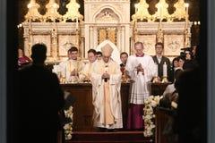 Visite de pape Francis vers la Roumanie photographie stock libre de droits