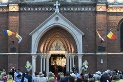 Visite de pape Francis vers la Roumanie photo libre de droits