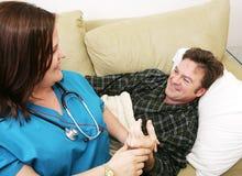Visite de soins de santé à la maison image libre de droits