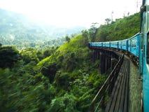 Visite de train avec l'ella Sri Lanka image libre de droits