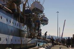 Visite du bateau d'Amerigo Vespucci Photos stock