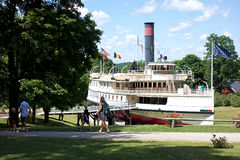 Visite du bateau de vapeur de Ticonderoga photos stock