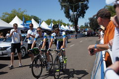 Visite du cycliste 2013 de la Californie Images stock