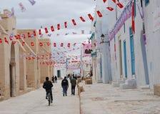 Visite du Président Ben-Ali à Kairouan Image libre de droits