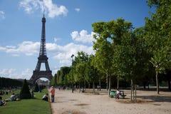 Visite Eiffel de La de sur de Vue Photo stock