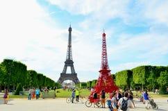 Visite Eiffel, Paris Image libre de droits