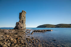 Visite Genoese De Santa Maria sur Cap Corse en Corse Images stock