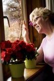 Visite heureuse Photos stock