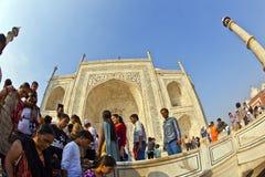 Visite indienne Taj Mahal de personnes Photos libres de droits