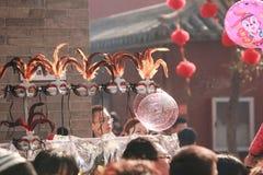 Visite la feria del templo en la ciudad God& x27; templo de s, Zhengzhou Imagen de archivo libre de regalías