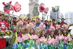 Visite Malaisie 2007 de la Malaisie Florathon Image libre de droits