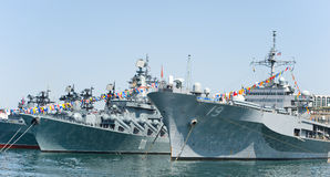 Visite navire amiral de flotte de marine des USA de 7ème dans le Ne de la Russie Vladivostok Images libres de droits