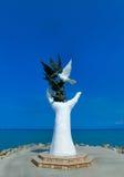 Visite o cartão de Kusadasi em Turquia - mão da paz Foto de Stock Royalty Free