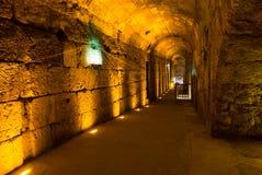Visite occidentale de tunnels de mur de Jérusalem Hanoucca images stock