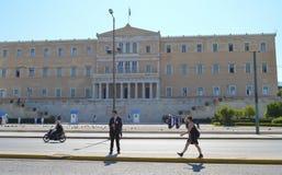 Visite officielle de président bulgare à Athènes, Grèce le 23 juin 2017 ATHÈNES, GRÈCE - 23 JUIN : Off photographie stock